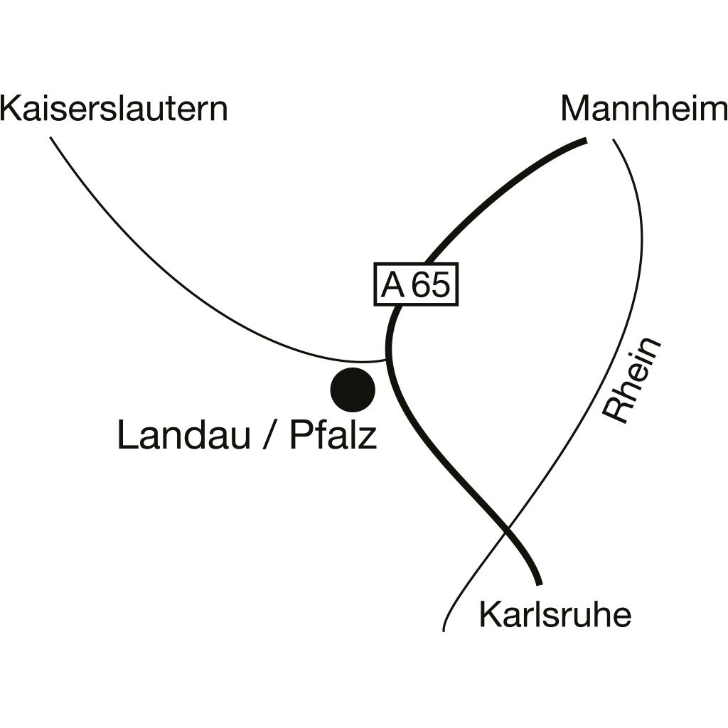 Karte Landau